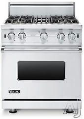 "Viking VGCC5304B 30"" Pro-Style Gas Range with 4 VSH Pro Sealed Burners, 18,500 TruPower Plus Burner, VariSimmers, ProFlow Convection Oven, M..."