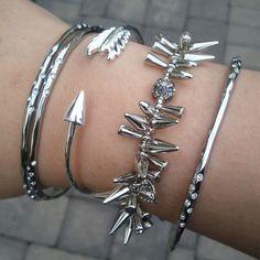 Gorgeous. Silver bangles by Stella & Dot.