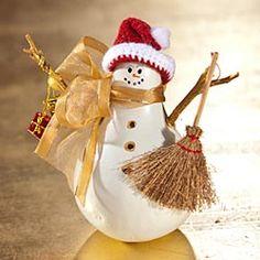 Gourd snowman