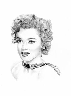 Marilyn Monroe pencil drawing by Damian May