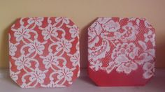 Homemade Mamas: lace tile trivets!