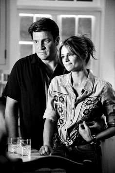 Stana Katic as Kate Beckett and Nathan Fillion as Richard Castle - Castle