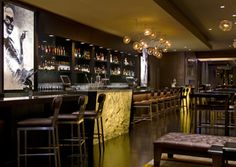 Sable Kitchen & Bar; Chicago    Master mixologist Jacques Bezuidenhout co-created the drink list for this elegant gastro-lounge. Behind the 40-foot bar, head bartender Mike Ryan serves his own creations, too, like the rhubarb-infused Bridal Shower. 505 N. State St.; 312-755-9704; sablechicago.com.  Photo © Cris Molina