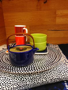 I never got the chance to share with you my little shopping trip while I was in NYC two months ago. Marimekko, Scandinavian Design, Finland, Heaven, Interiors, Mugs, Tableware, Sweet, Kitchen