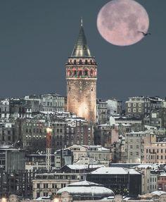 Visit Us On Ig => 🙏🙏🙏cc: Turkey Turkish Europe Discover spanish Journey Explore summer beach sand Ladscape sea desert Moon Pictures, Empire State Building, Summer Beach, Big Ben, Istanbul, Spanish, Tower, Journey, Europe