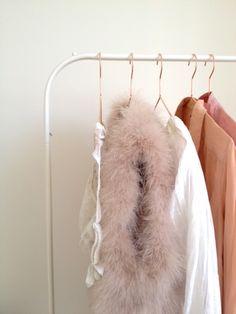 copper hanger- ah closet organization.