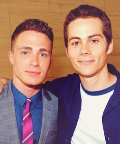 Colton Haynes and Dylan O'Brien <3