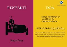 Doa sakit demam panas Pray Quotes, Hadith Quotes, Muslim Quotes, Islamic Quotes, Hijrah Islam, Doa Islam, Cinta Quotes, Beautiful Prayers, Learn Islam