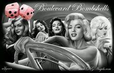 Boulevard bombshells. Creator of the homies new T-Shirt line at WWW.DGAngels.com beautiful work and merch