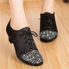 Cheap Strass scarpe da ballo latino nero su misura salsa scarpe da donna  tacco… Marca HowenLew Scarpe da Ballo 7161852e846