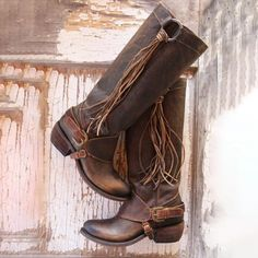 3c2610e7ad Vintage Style Women Lace-Up Tassels Mid-Calf Boots
