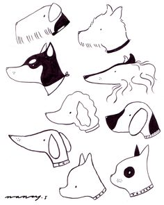 Simple fun! Dog ink sketches!