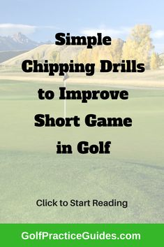 Here is a series of golf chipping drills and practice routines to follow for bettering your short game and golf scores. Click to learn more.