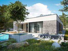 EX 21 soft - projekt domu - Archipelag Modern Small House Design, Bungalow House Design, Samar, Home Fashion, House Plans, 21st, Minimalist, How To Plan, Mansions