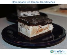 One of my kids doesn't like cake (seriously!), so we made these ice cream…