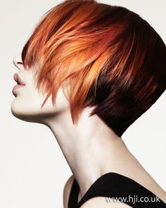 2012 red and orange womens hairstyle