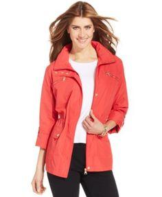 Style&co. Petite Zip-Pocket Hooded Anorak