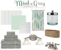 Mailbox Journey Mint And Grey Bathroom Mood Board Http Mailboxjourney