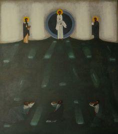 Nowosielski Religious Icons, Religious Art, George Tooker, Religious Paintings, Biblical Art, Byzantine Icons, Orthodox Icons, Sacred Art, Christian Art