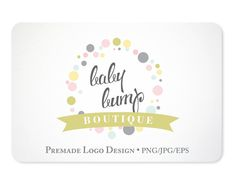 Premade Logo Design for Small Businesses by KellyJSorenson on Etsy, $45.00