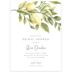 Lemon Bridal Shower Invitation | Forever Your Prints