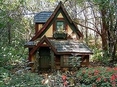 A little cottage in the woods.