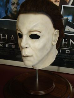 Authentic Screen-Used Michael Myers Halloween: Resurrection Mask Signed by Rick Rosenthal and Jamie Lee Curtis.