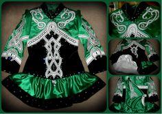 Irish Dance Solo Dress Costume - Horseshoe
