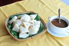 Banh Duc - Vietnam traditional food that made from rice powder.