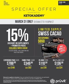 15% off All Keto Products Today! http://ift.tt/2mVQ6DX 15% OFF SALE on ALL KETO OS and KETO MAX products through my website Until MIDNIGHT today!  EXPIRES MARCH 31st 11:59pm CT  Discount Applied at checkout!  QUESTIONS?? LIVE CHAT is at the the bottom of the page!  Order by phone! Call us at 1-855-KETONES(1-855-538-6637) Toll free!  Limited Supply of Swiss Cacao Available!  Swiss Max Cacao is availableto current promoters and customers.  It is ONLY available in 100 servings packs for…