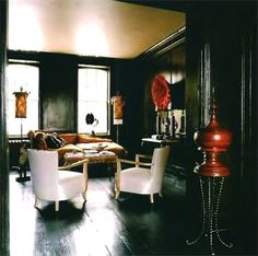 black painted walls - Google Search