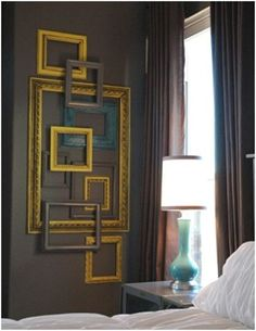Layered frame gallery wall from livingwithlindsay.com