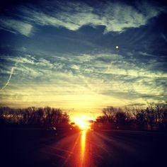 Il sole sorge su Brescia
