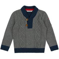Guess Cable stitch knit sweater Grey - 85081 | Melijoe.com