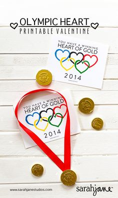 PDF Olympic Valentines-my kids already picked out their valentines but this was too cute to not share :)