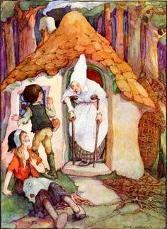 Hansel and Gretel. Illustration A. Anderson (1922)