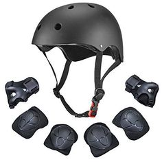 Kids 7Pcs Adjustable Protective Gear Set, Dostar Toddler Children Safeguard Helmet for Roller Bicycle BMX Bike Skateboard Hoverboard and Other Extreme Sports Activities with Knee/Elbow/Wrist Pads. #Kids #Adjustable #Protective #Gear #Set, #Dostar #Toddler #Children #Safeguard #Helmet #Roller #Bicycle #Bike #Skateboard #Hoverboard #Other #Extreme #Sports #Activities #with #Knee/Elbow/Wrist #Pads