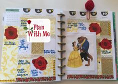 Plan With Me | Happy Planner | BEAUTY and the BEAST THEME