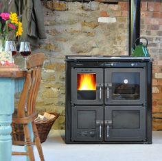 Wood-burning range cooker
