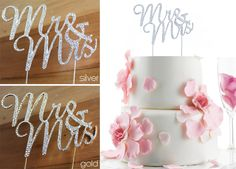 Blingin cake topper - must have! Best Friend Wedding, Wedding Favours, Cake Toppers, Favors, Stationery, Place Card Holders, Table Decorations, Bride, Wedding Bride