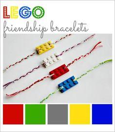 DIY LEGO Friendship Bracelets DIY Jewelry DIY Bracelet לעשות שרשרת שהסוגר/תליון יהיה ממגנטים של 2 כפות ידיים