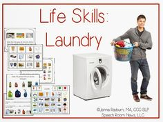 Speech Room News: Functional Life Skills: Laundry Lessons & Apps Life Skills Lessons, Life Skills Activities, Life Skills Classroom, Teaching Life Skills, Special Education Classroom, Classroom Ideas, Autism Education, Life Learning, Teaching Ideas