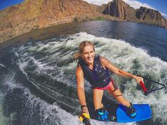 GoProGirl @myishareece wake-boarding at the Canyon Lake in Arizona. #GoPro #GoProGirl #wakeboarding #canyonlake #arizona