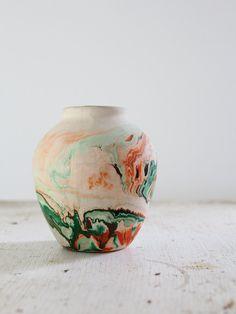 Vintage Nemadji Vase / Desert Pottery. $58.00, via Etsy.
