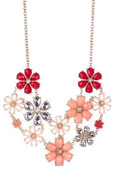 Multi-Flower Statement Bib Necklace on HauteLook
