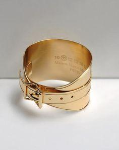 Gold Buckle Cuff by Maison Martin Margiela