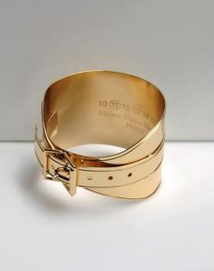 Gold Buckle Cuff by Maison Martin Margiela
