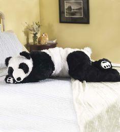 Super-Soft Big Bear Hug Panda Bear Body Pillow with Realistic Accents Bedtime Cuddly Plush Toy Animal 48 L Baby Panda Bears, Bear Cubs, Soft Pillows, Decorative Throw Pillows, Hug Pillow, Pillow Talk, Pillow Drawing, Panda Love, Panda Hug