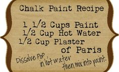 The Vintage Farmhouse: Homemade Chalk Paint Pros & Cons  Tip: Don't use VALSPAR paint with this recipe