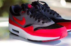 Nike Air Max 1 Black/Red-Anthracite